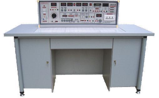 1、实验操作桌12张,一桌二座,操作桌桌面中央设置通用电路插板(尺寸:35×90cm),低压电路实验在其上任意拼插元件盒成实验电路。元件盒盒体透明直观,内装元件一目了然,盒盖印有永不褪色元件符号,线条清晰美观,盒盖与盒体采用压卡式结构、维修拆装更换方便。继电控制实验由实验箱与专用隐蔽式控制线来完成。根据高压实验与低压实验不同特点配置不同导线、不同实验方法,实验安全系数大大提高。数字电路实验配备通用集成插座,插拔更换集成方便,一座多用,自主开发能力强。每张操作桌配有一粒胶皮板,保护通用电路插板和