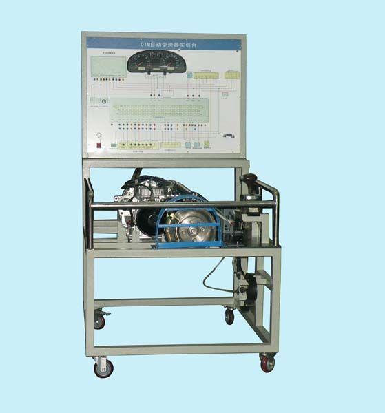 实验台面板上分布电脑控制电路;由实际的自动传动系统控制电脑ecu