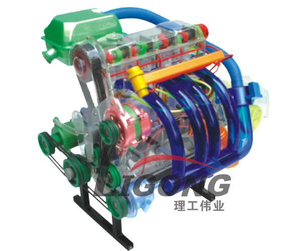 汽车发动机透明模型,发动机机体解剖模型