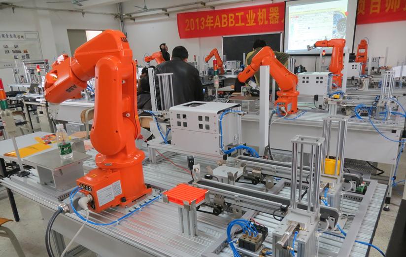三,设备结构与组成  该实训平台由abb irb120六自由度工业机器人系统